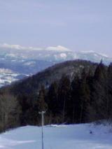 大鰐から見る八甲田山