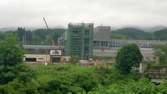 奥津軽いまべつ駅建設中
