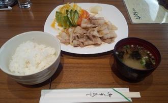 豚バラ焼き定食