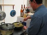 一流シェフによる調理風景。